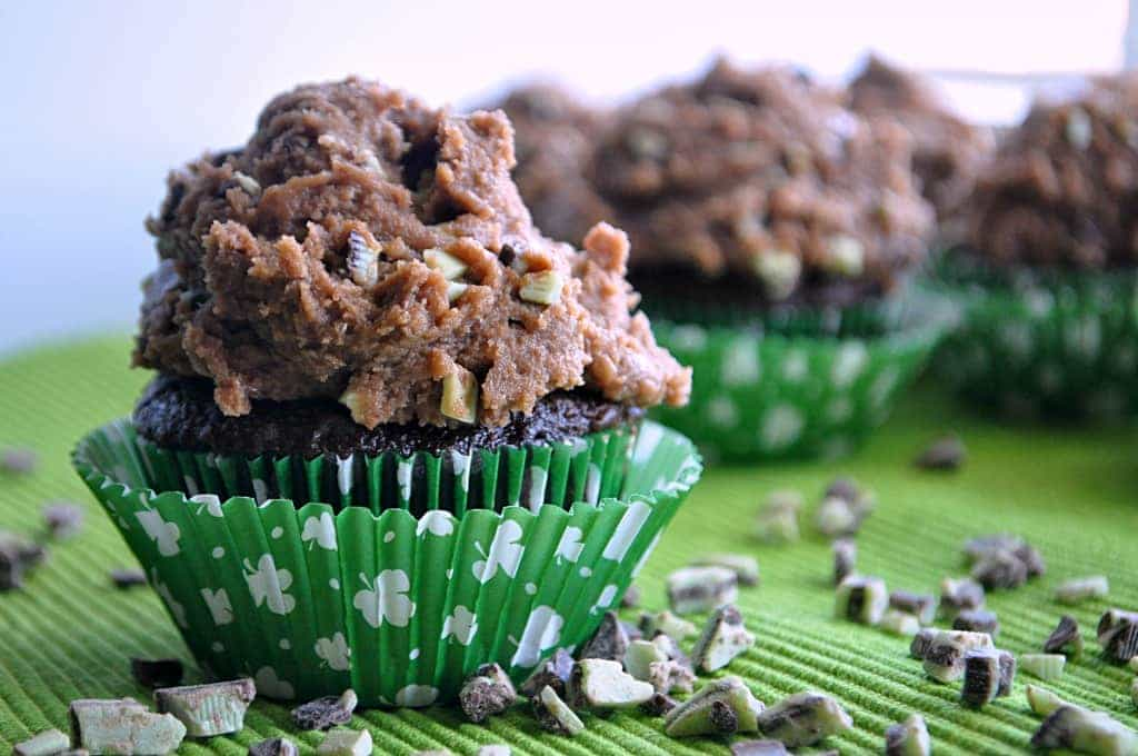 Chocolate Cookie Dough with Mint Chip Frosting!! From House of Yumm