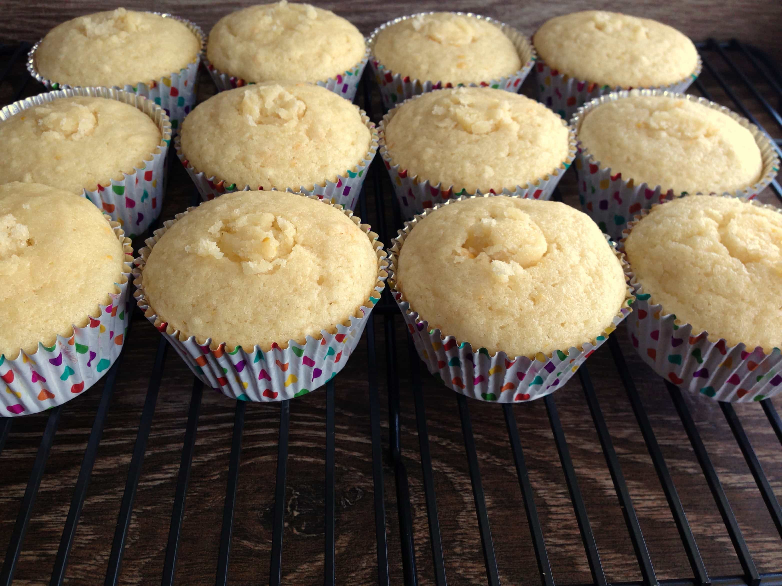 Tops placed back in the centers of the cupcakes on top of the filling.