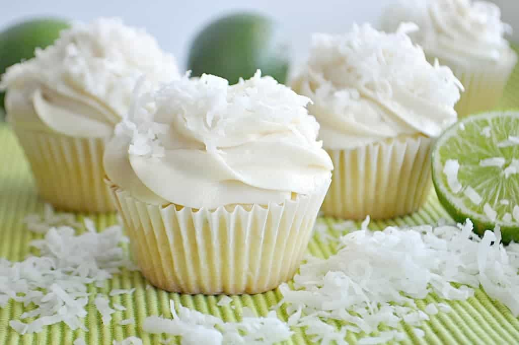Lime Coconut Cupcakes - House of Yumm
