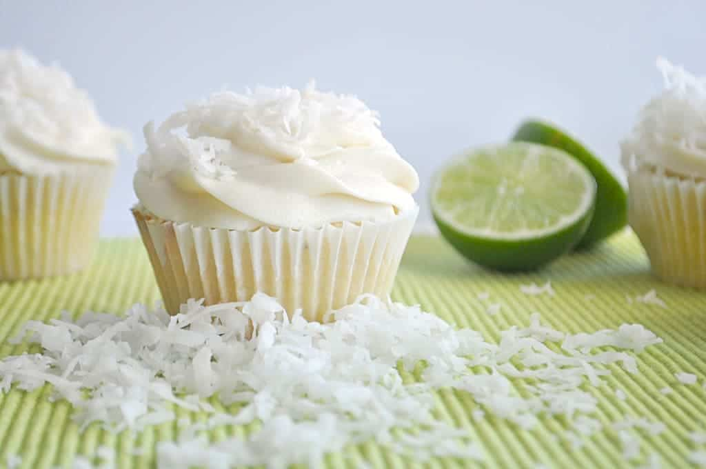 Coconut Lime Cupcakes Recipe — Dishmaps