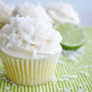 Lime Coconut Cupcakes