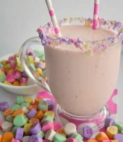Strawberry Cake Batter Milkshake!  3 ingredients!  Super Simple and tasty! |House of Yumm|