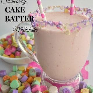 Strawberry Cake Batter Milkshake