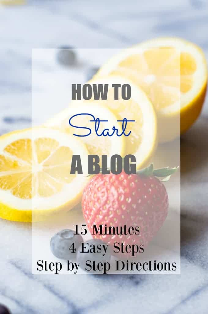 Earn a full time income at home!  How to Start a Blog! Only 4 steps! 15 Minutes. Come check out the step by step directions with pictures to show  you how to get started!