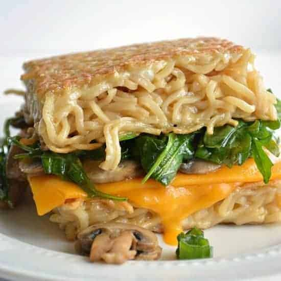 Ramen grilled cheese.  No bun, just ramen!