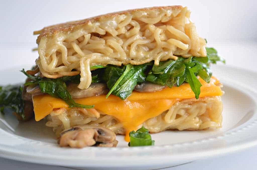 Ramen Grilled Cheese.  No bun..just ramen!
