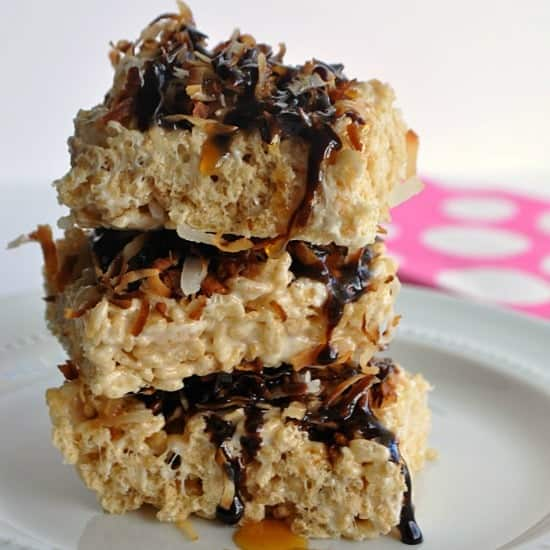 Samoa Rice Krispie Treat