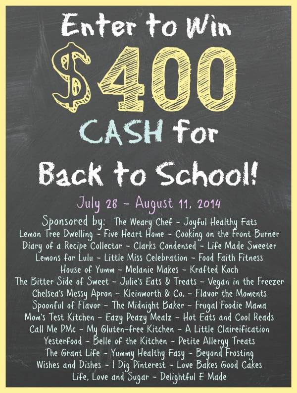 $400 Back to School Giveaway!