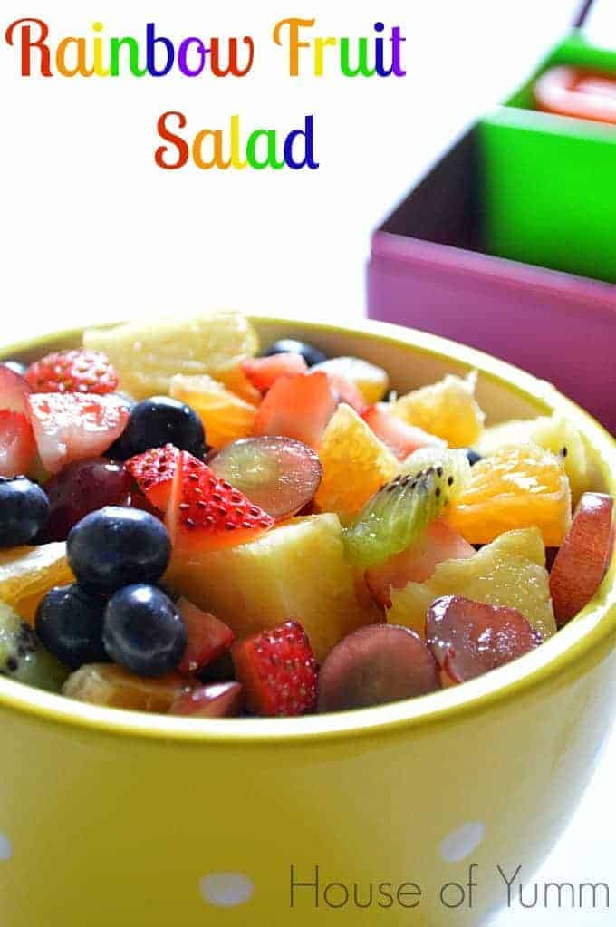 Rainbow Fruit Salad - House of Yumm