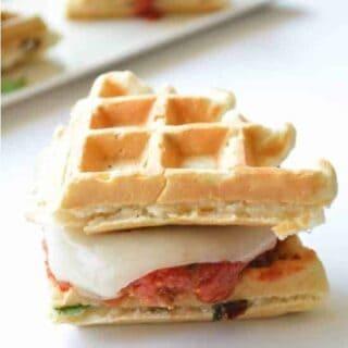 Chicken Parmesan Waffle Sandwiches