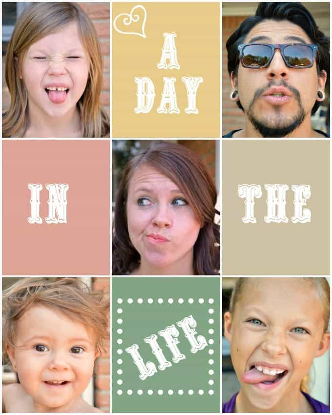 Day in the life collage