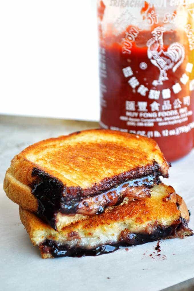 Sriracha Jam Grilled Cheese   House of Yumm