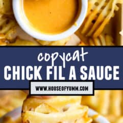 Pinterest collage showing chick fil a sauce.