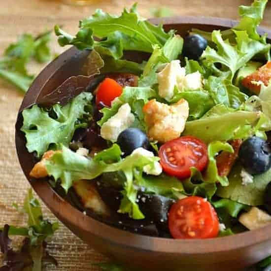 Chicken Blueberry Salad {with Orange Vinaigrette}