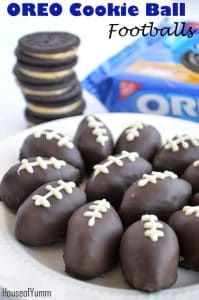OREO Cookie Ball Footballs! Get ready for the Big Game with these fun treats! #OREOcookieballs #ad