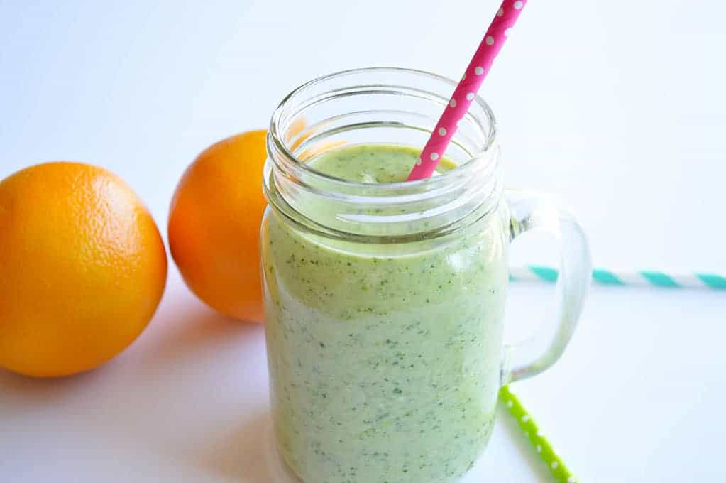 This Tropical Green Smoothie, is loaded with Spinach, but tastes like a Tropical Paradise!