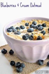 Blueberries & Cream Oatmeal.  BEST Breakfast ever!