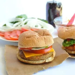 Veggie Burger with Spicy Ketchup