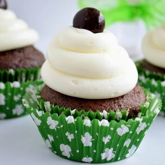 Junior Mint Cupcakes