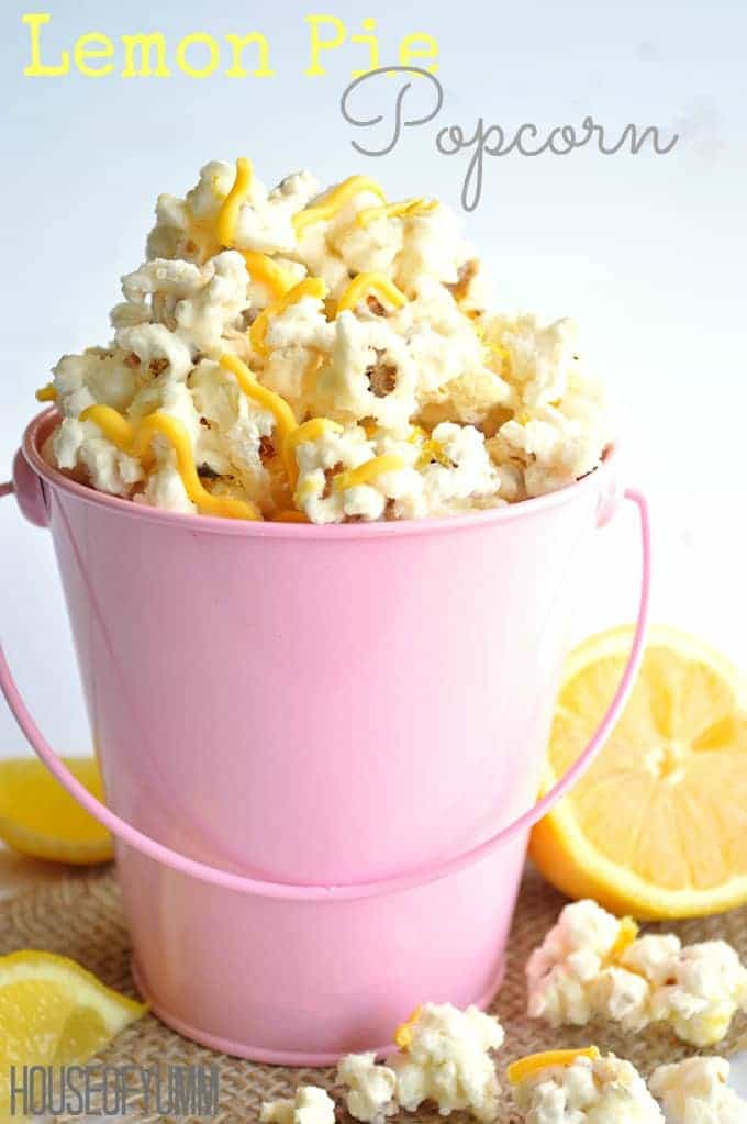 Lemon Pie Popcorn!  Tastes exactly like a lemon cream pie!  Perfect snack for kids and adults.