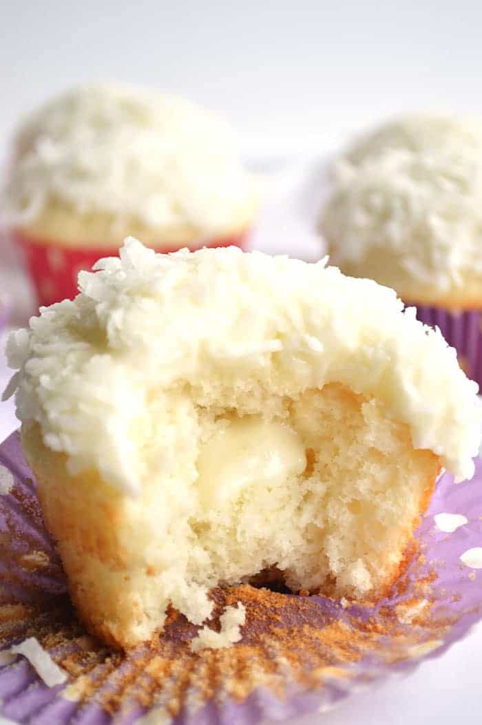 Coconut Cupcakes. A moist white coconut cake with a creamy coconut ...