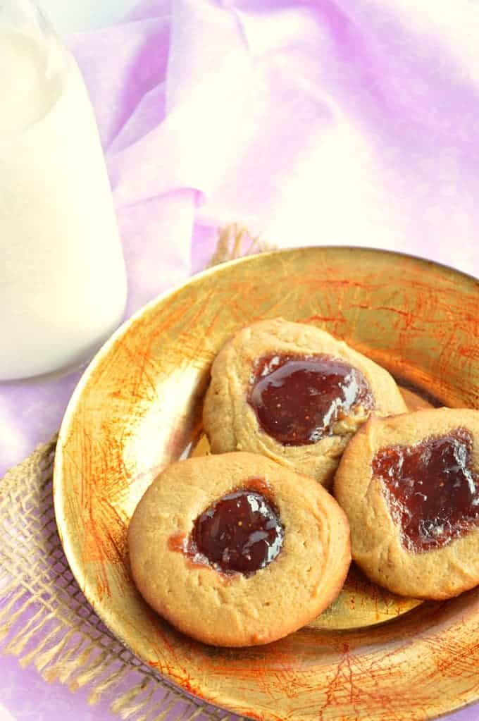 Flourless Peanut Butter and Jelly Cookies - House of Yumm