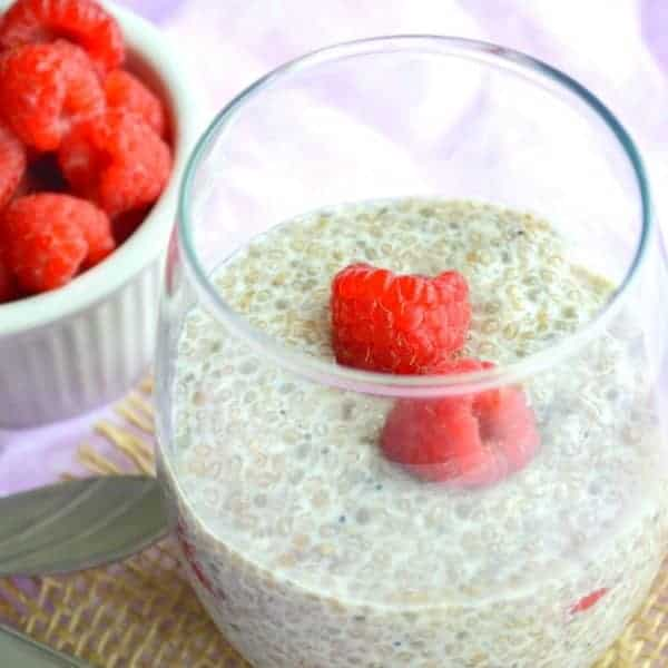 Raspberry & Vanilla Chia Pudding