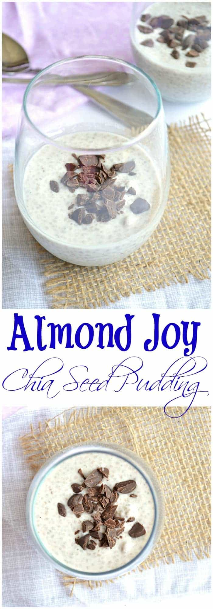 Almond Joy Chia Seed Pudding--Breakfast or dessert?  Does it even matter!?