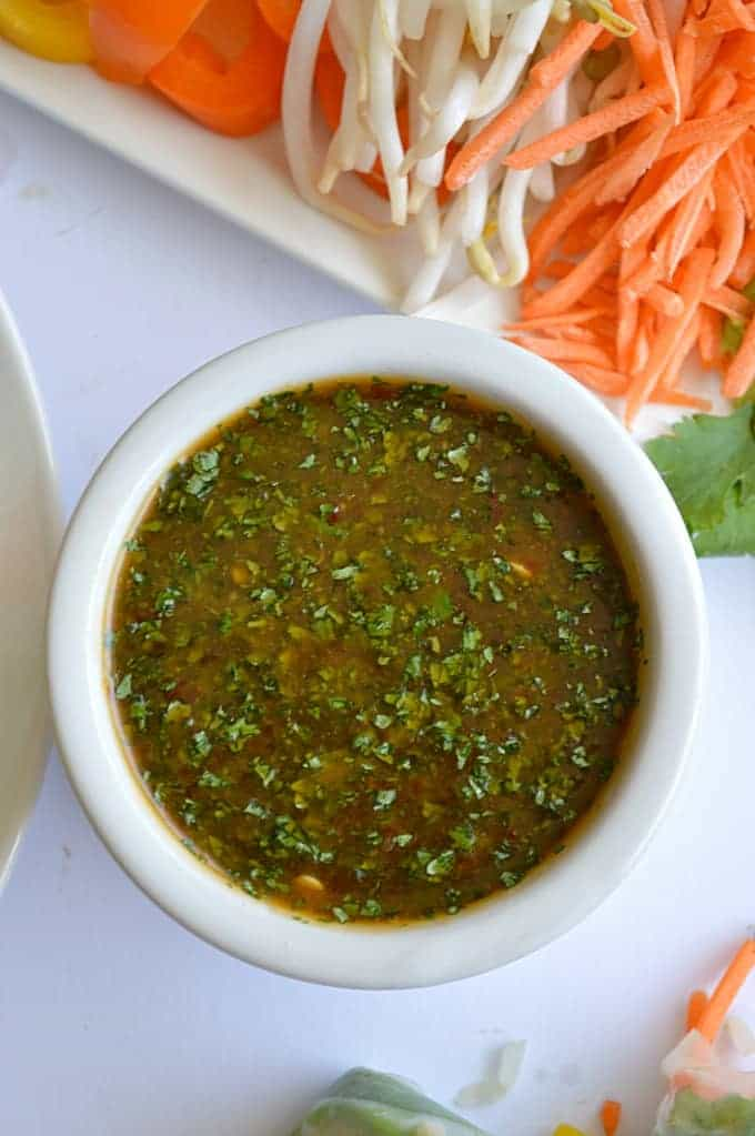 Sweet 'N Spicy Cilantro Sauce.  Tastes just like the Cheesecake Factory's sauce they serve with the egg rolls!