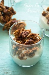 Pecan Pie Granola. Enjoy the classic fall flavors of pecan pie with this crunchy treat including roasted pecans and a hint of cinnamon.