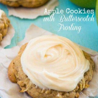 Apple Cookies with Butterscotch Frosting
