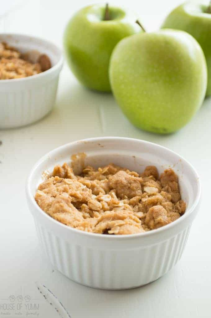 This easy to make caramel apple crisp is the perfect combination of tart apples with an irresistible brown sugar crisp topping