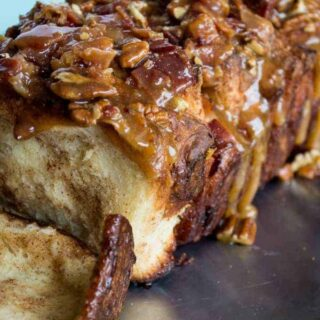 Caramel Bacon Pull Apart Bread