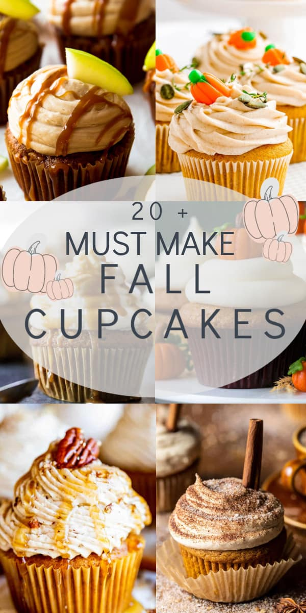 20+ must make fall cupcakes collage image