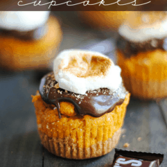Pumpkin S'mores Cupcakes by Something Swanky.