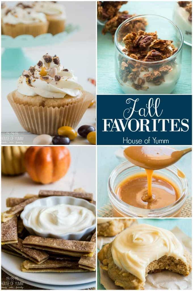 Fall Favorites at House of Yumm. Caramel, Apples, Pumpkin, Pecan and Butterscotch!