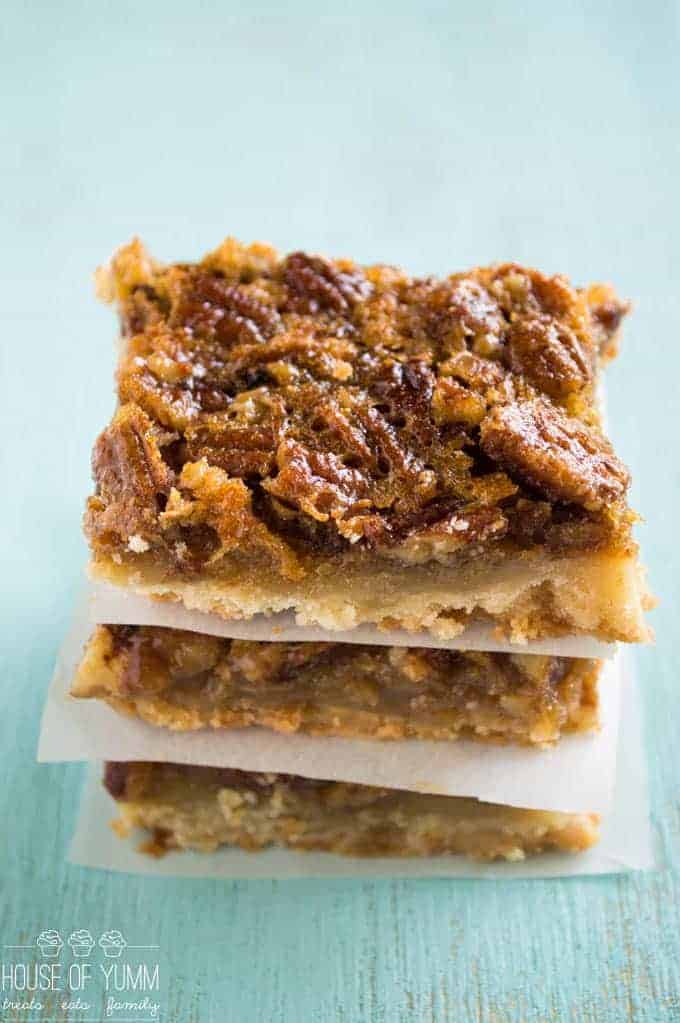 This Pecan Pie Bar is the perfect laidback version of it's cousin the pie. Pecan Pie filling on top of a flaky, sugar cookie type crust.