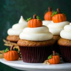 Pumpkin Cupcakes by Cooking Classy