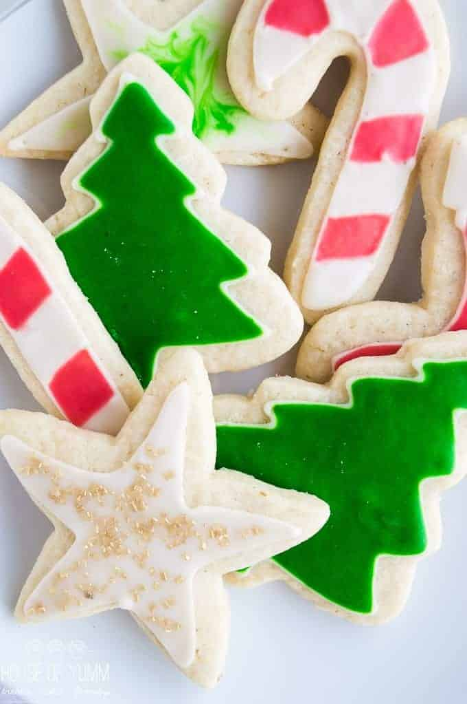 Easy Iced Sugar Cookies House Of Yumm