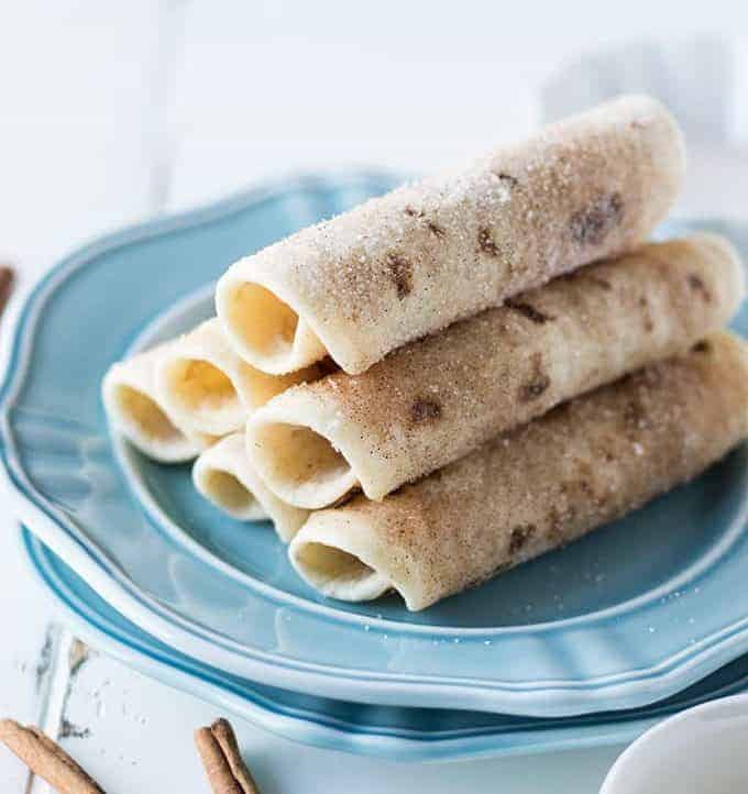 Cinnamon Tortilla Rollups! Only 4 ingredients and 1 minute of your time to make this quick, simple, and delightful dessert!