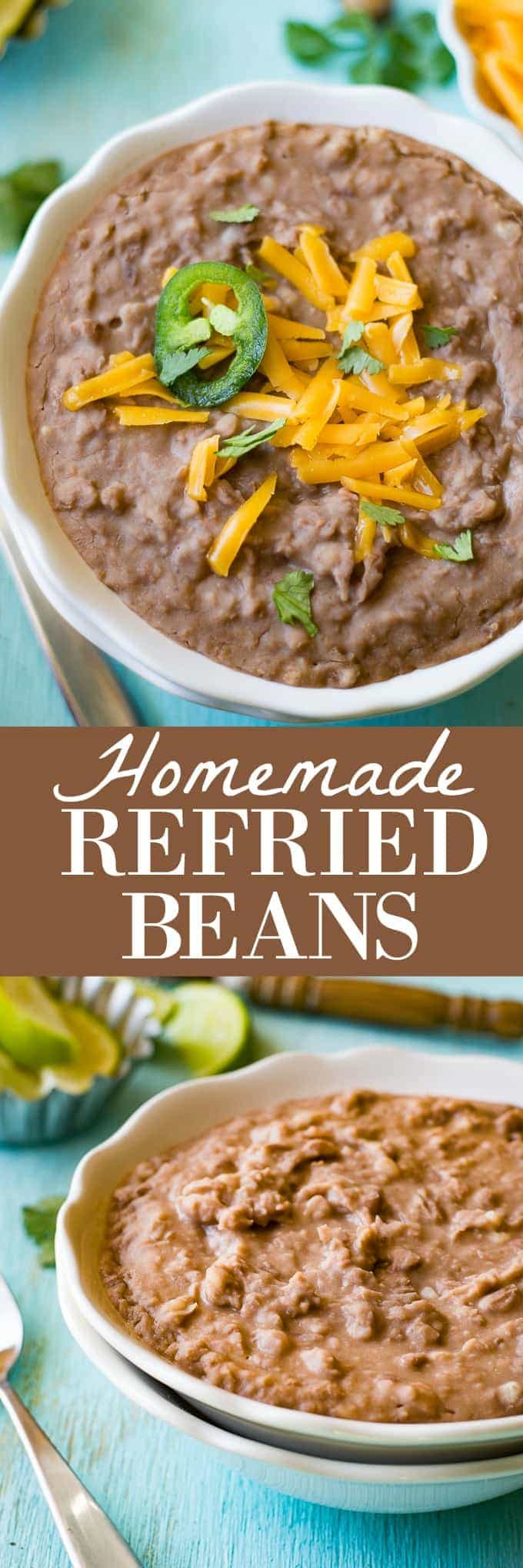 Homemade Refried Beans House Of Yumm