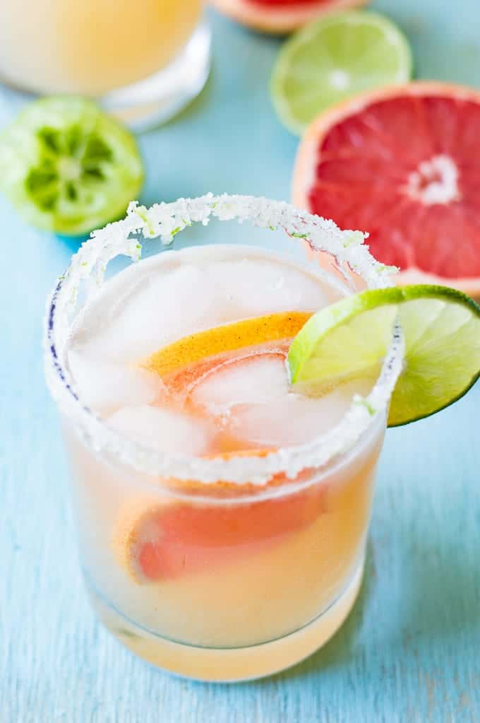This Grapefruit Paloma recipe is so refreshing and classy! This easy to make tequila based drink is perfect for sipping on this weekend!