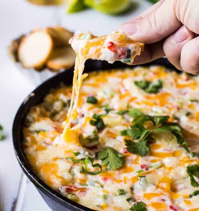 Tex Mex Hot Pimento Cheese Dip