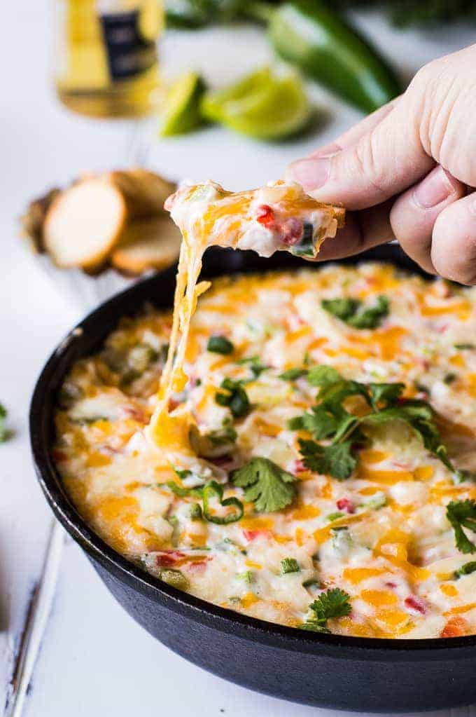 Tex Mex style Hot Pimento Cheese Dip is the ultimate in hot cheese dip ...