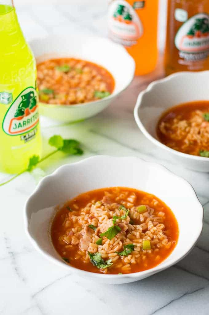A dressed up version of the traditional Sopa De Letras, this Mexican ABC soup has a little bacon and green bell pepper added for extra flavor and spice. Perfect recipe for family dinner! The kids always ask for this soup!