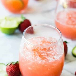 Strawberry Cucumber Lime Agua Fresca
