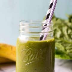 This Matcha Smoothie is so easy to make, loaded with greens, matcha, and ginger, making it the perfect way to start the day with a boost of energy the healthy way!