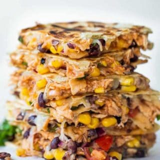 Stacked Texas Cowboy Quesadillas.