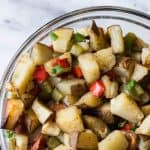 These breakfast potatoes are loaded up with flavor including bell peppers and jalapeño. The perfect side dish for brunch or breakfast!!
