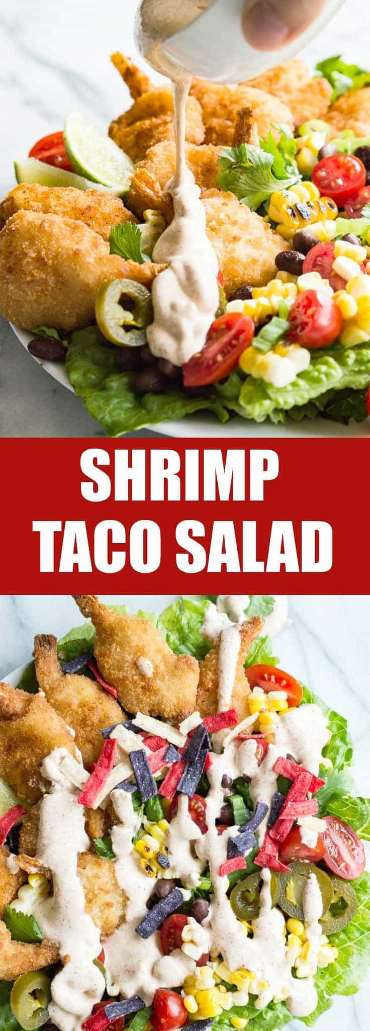 Shrimp Taco Salad With Southwestern Dressing House Of Yumm